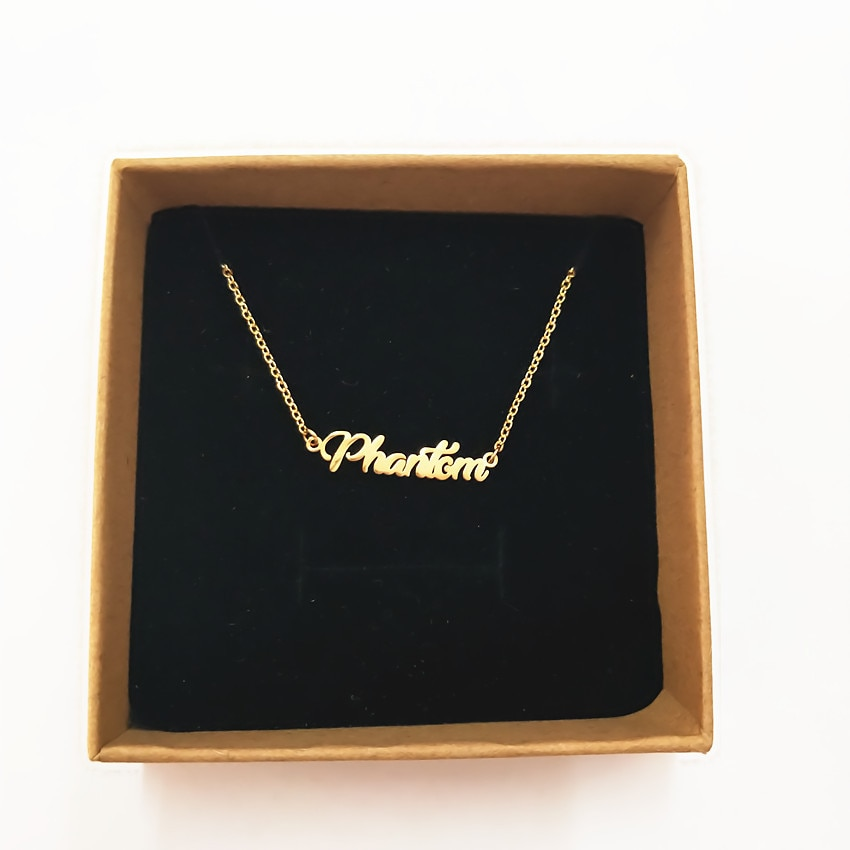 314l Stainless Steel Gold Customized Custom Name Pendant